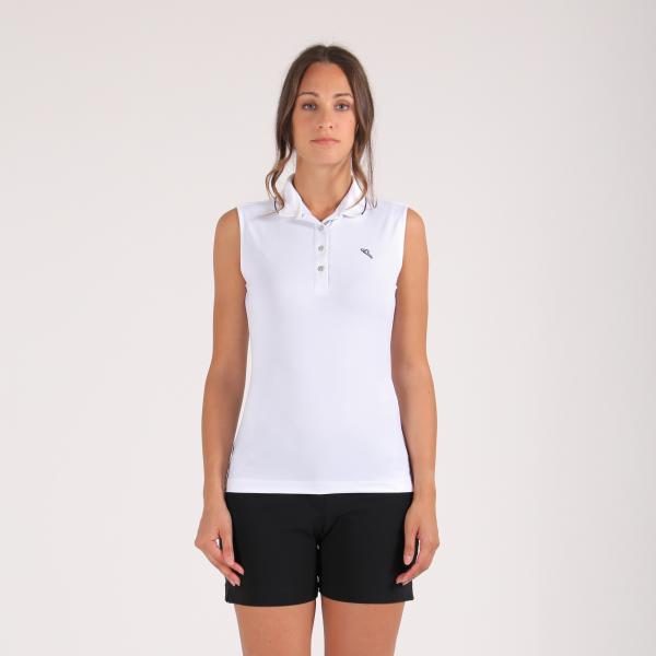 Polo Donna Ajvar 64280 Bianco Blu Chervò
