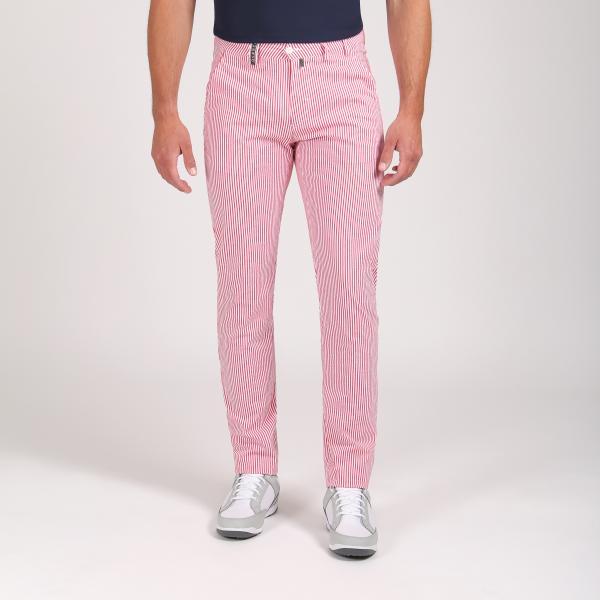 Pantalone Uomo Settimo 64353 Rosso Bianco Chervò