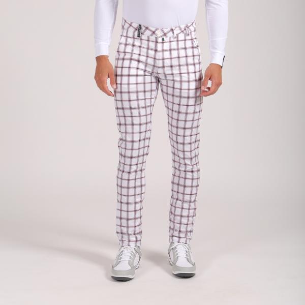 Pantalone Uomo Settimo 64353 Blu Bianco Chervò