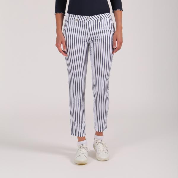 Pantalone Donna Si 64358 Bianco Blu Chervò