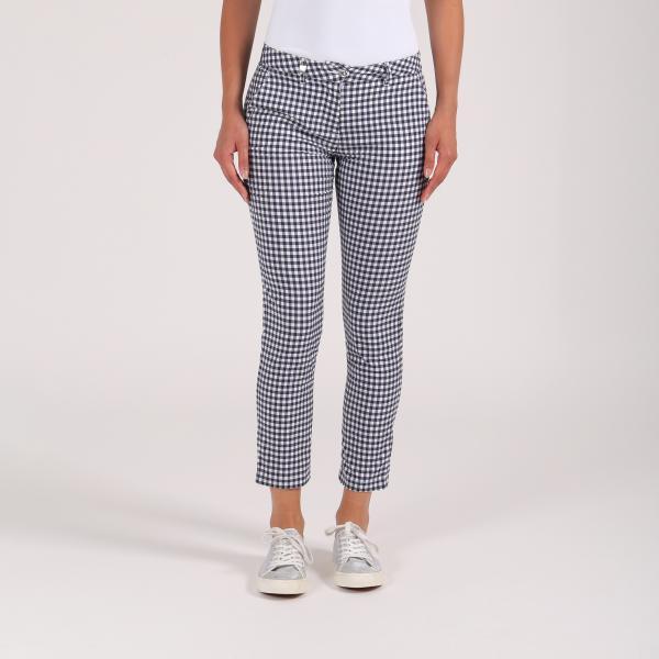 Pantalone Donna Si 64358 Blu Bianco Chervò