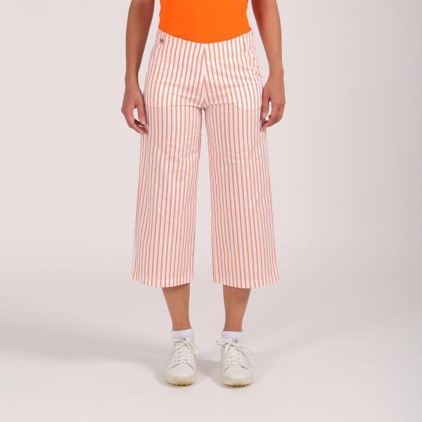 Pantalone Donna Skiros 64360 Arancione Bianco Chervò