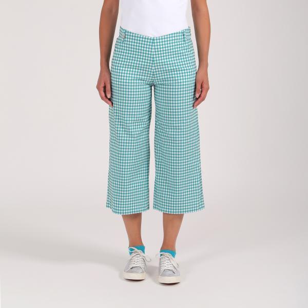 Pantalone Donna Skiros 64360 Verde Bianco Chervò