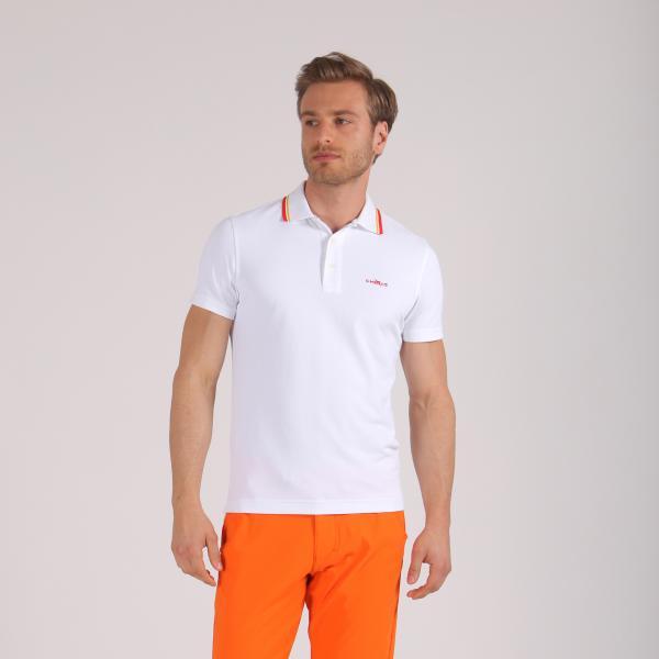 Polo Uomo Affetto 59315 Bianco Arancione Chervò