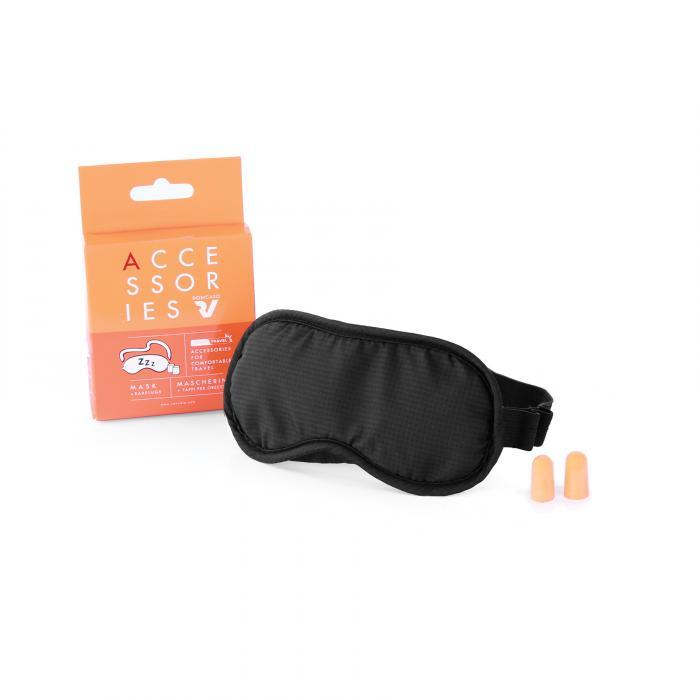 Sleep Mask With Earplugs  BLACK