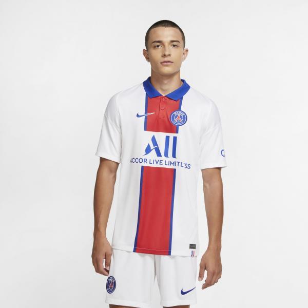 Nike Maglia Gara Away Paris Saint Germain   20/21 Bianco Tifoshop