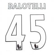 ORIGINAL NAME BALOTELLI  53MM + NUMBER 45 258MM  - LEX WHITE/BLACK