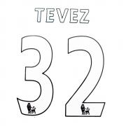 ORIGINAL NAME TEVEZ 53MM + NUMBER 32 258MM  - LEX WHITE/BLACK