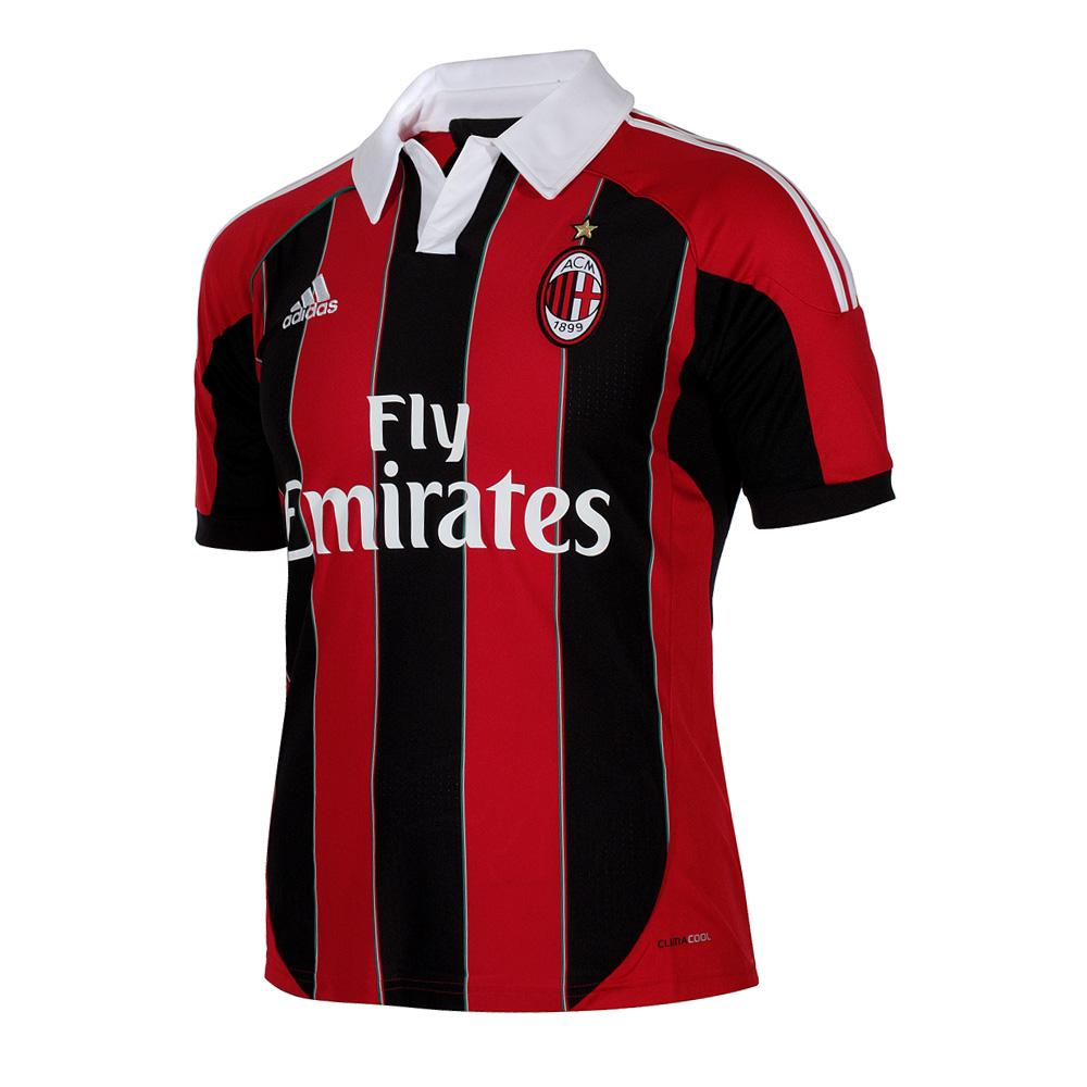 1880f1ec4ee1b5 Adidas Maglia Gara Home Milan Junior 12/13 Rossonero - Tifoshop.com