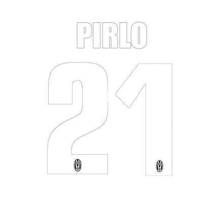 Stilscreen Inscription Et Numéro Officiel  Juventus Enfant  13/14 WHITE