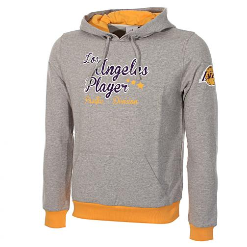 Adidas Felpa Cappuccio Los Angeles Lakers Junior GRIGIO MELANGE