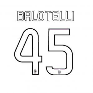 Stilscreen Name Und Offizielle Nummer  Milan   13/14