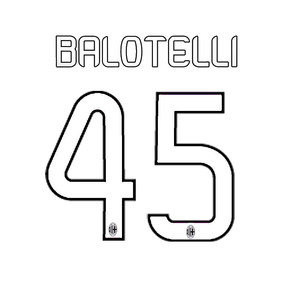 Stilscreen Name Und Offizielle Nummer  Milan Juniormode  13/14
