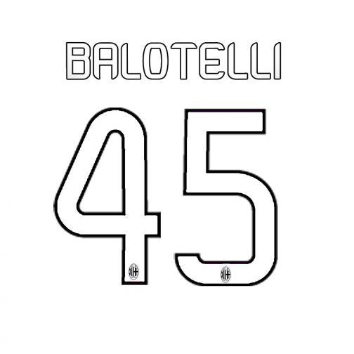 Stilscreen Name Und Offizielle Nummer  Milan Juniormode  13/14 WHITE