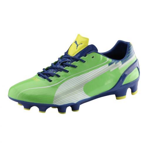 Puma Football Shoes Evospeed 1 Fg jasmine green-white-monaco blue-fluo yellow Tifoshop
