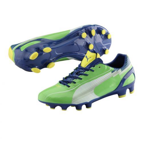 Puma Football Shoes Evospeed 1 Fg jasmine green-white-monaco blue-fluo yellow