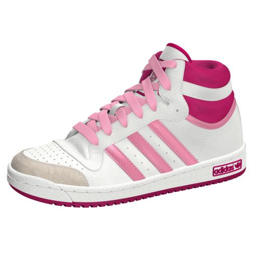 Adidas Originals Chaussures Topten Hi K  Enfant White Pink Tifoshop