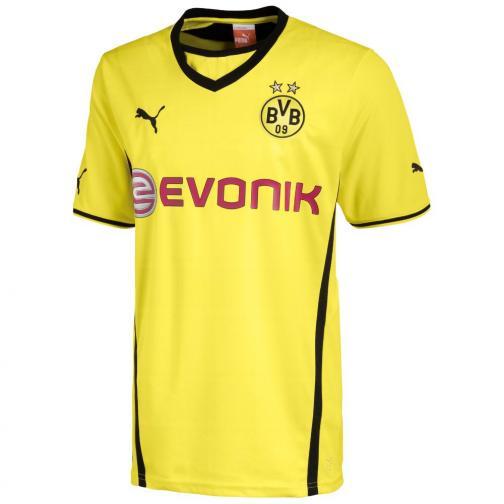 Puma Maillot De Match Home Borussia Dortmund   13/14 Yellow