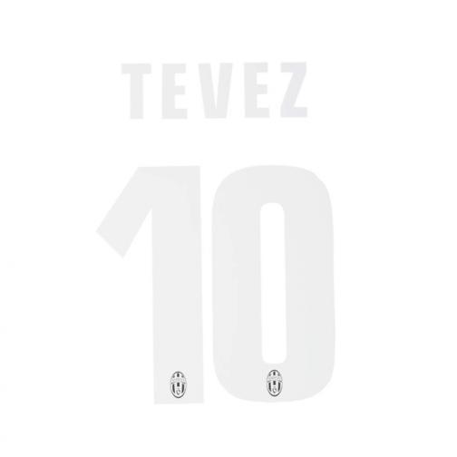 Stilscreen Scritta E Numero Ufficiale  Juventus   13/14 BIANCO