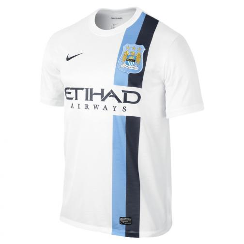 Nike Maillot De Match  Manchester City   13/14 White
