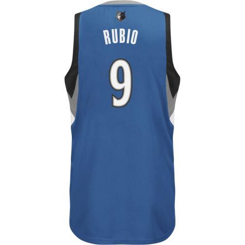 Adidas Débardeur Swingman Minnesota Timberwolves  Ricky Rubio 13/14 Black White Tifoshop