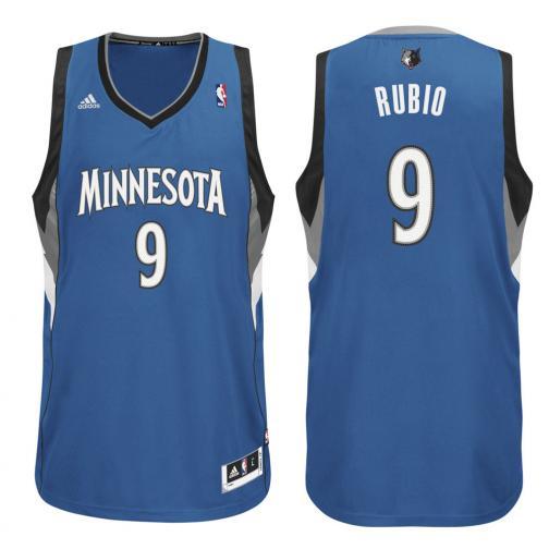 Adidas Débardeur Swingman Minnesota Timberwolves  Ricky Rubio 13/14 Black White