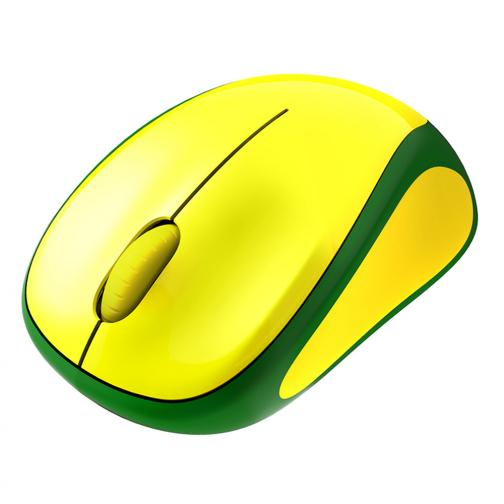 Logitech Mouse Wireless Mouse M235 Brasil Unisex Green Yellow Tifoshop