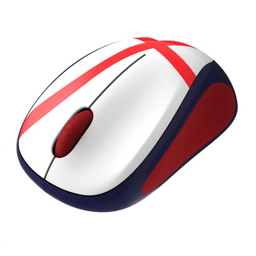 Logitech Mouse Wireless Mouse M235 England Soccer Unisexmode White Red Tifoshop