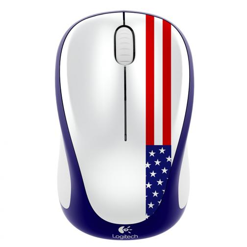 Logitech Mouse Wireless Mouse M235 Usa Unisexmode Blue White Red