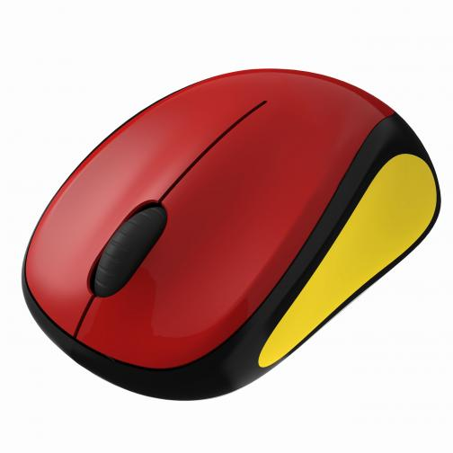 Logitech Mouse Wireless Mouse M235 Belgio Unisex Nero Rosso Gaillo Tifoshop