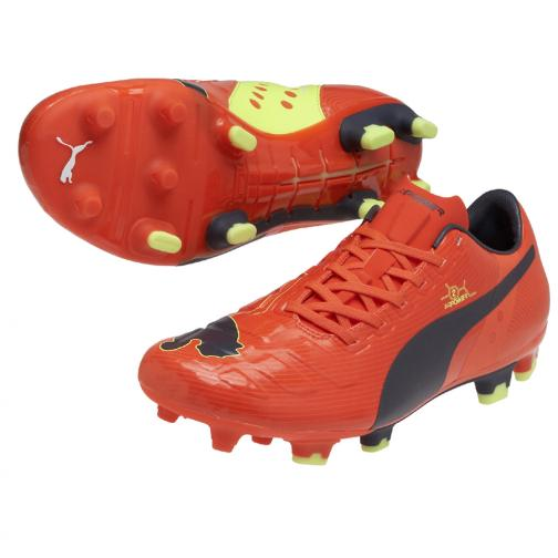 Puma Chaussures De Football Evopower 2 Fg fluro peach-ombre blue-fluro yellow
