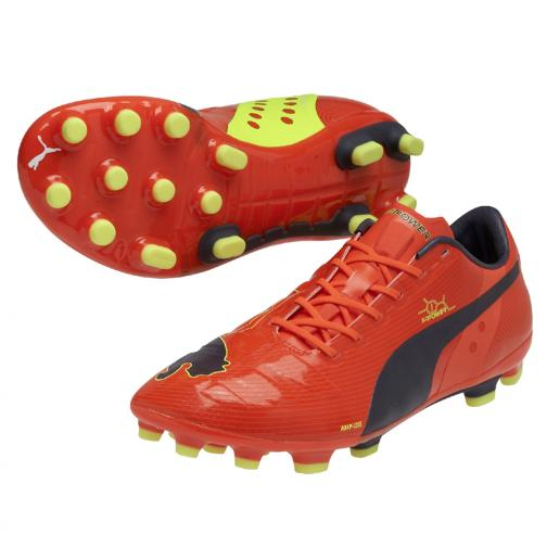 Football Shoes Evopower 1 Ag fluro peach-ombre blue-fluro yellow FIGC Store
