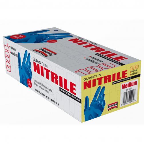 Guanti nitrile - tg m - conf.100 pz.