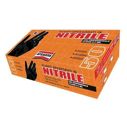 Guanti nitrile spesso tg.l - 50 pz.
