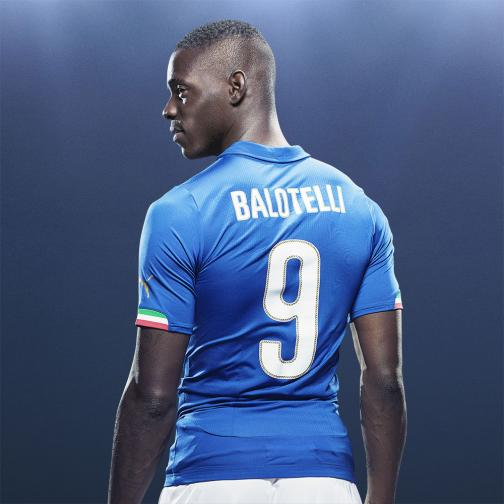 Puma Shirt Home Italy  Mario Balotelli 14/16 Team Power Blue Tifoshop