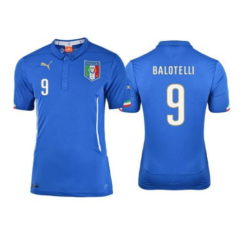 Puma Shirt Home Italy  Mario Balotelli 14/16 Team Power Blue