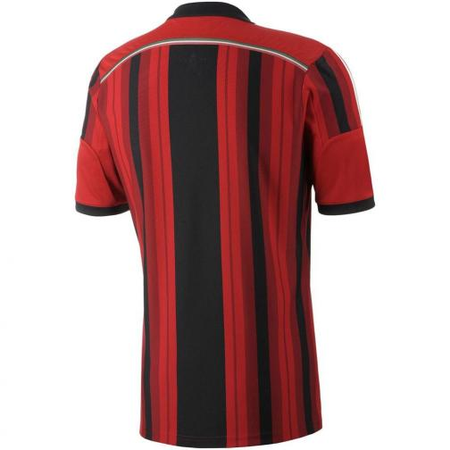 Adidas Shirt Home Milan   14/15 RED AND BLACK Tifoshop