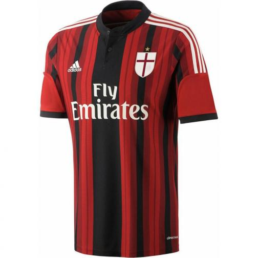 Adidas Maillot De Match Home Milan   14/15 RED AND BLACK