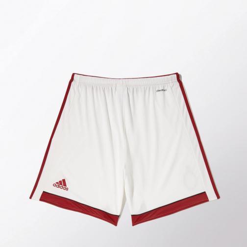 Adidas Game Shorts Home Milan   14/15 White and Red Tifoshop