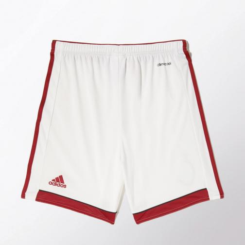 Adidas Game Shorts Home Milan Junior  14/15 White and Red Tifoshop