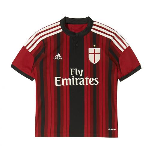 Adidas Shirt Home Milan Juniormode  14/15 RED / BLACK