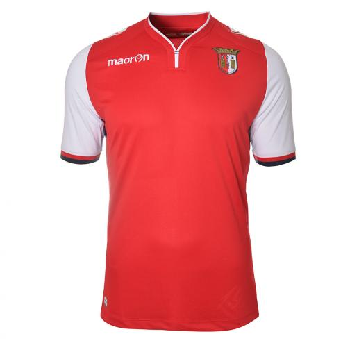 Macron Jersey Home Sporting Braga   14/15 WHITE RED