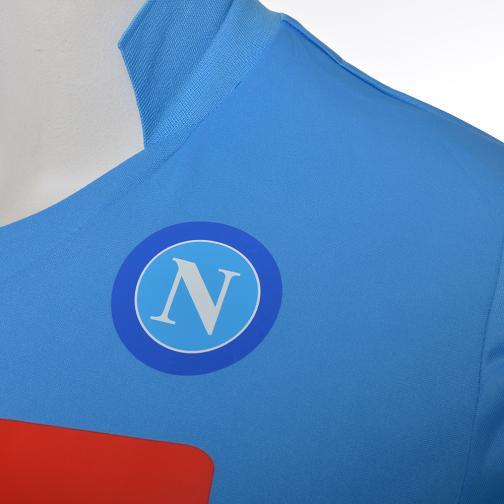 Macron Malliot De Stade Home Naples Enfant  14/15 LIGHT BLUE Tifoshop