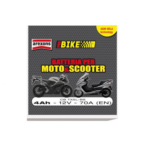 Cbtx5lbs batteria scooter e moto 4ah 12v agm