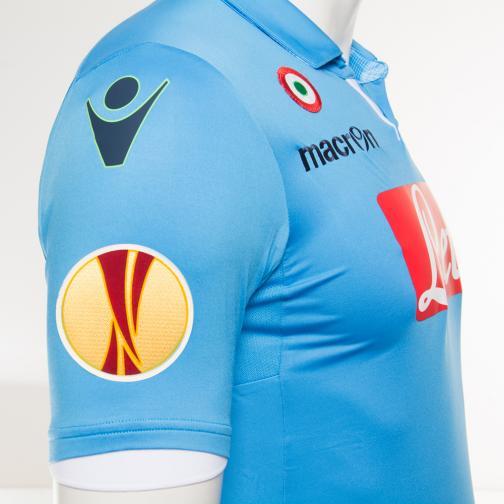 Macron Maillot De Match Europa League Naples   14/15 LIGHT BLUE Tifoshop