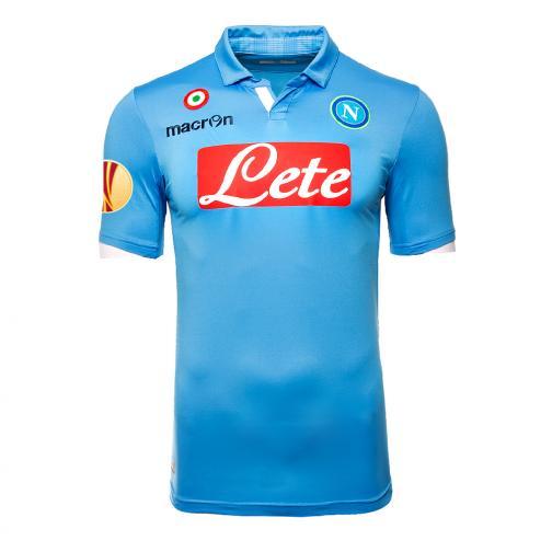 Macron Maillot De Match Europa League Naples   14/15 LIGHT BLUE