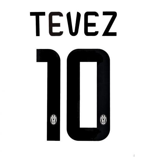 Stilscreen Scritta E Numero Ufficiale  Juventus   14/15 NERO