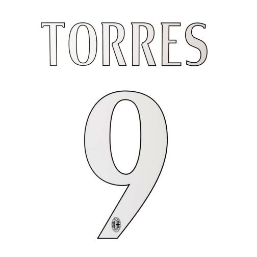Stilscreen Official Number And Name  Milan   14/15 WHITE