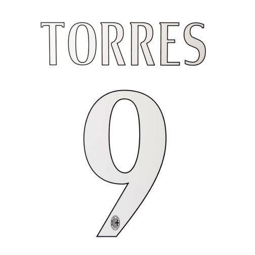 Stilscreen Name Und Offizielle Nummer  Milan   14/15 WHITE