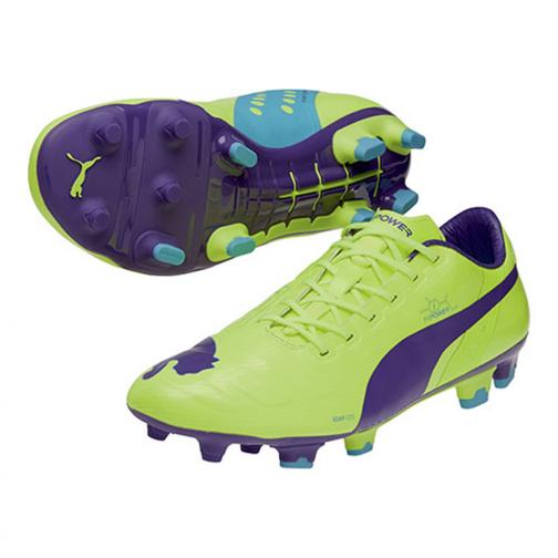 Puma Football Shoes Evopower 1 Fg fluro yellow-prism violet